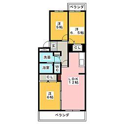ボナールIII[2階]の間取り