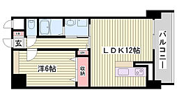 山陽電鉄本線 西舞子駅 徒歩8分の賃貸マンション 2階1LDKの間取り