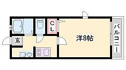 サンハイム六甲[1階]の間取り