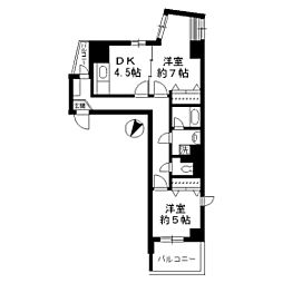ソレイユ駒沢[0801号室]の間取り