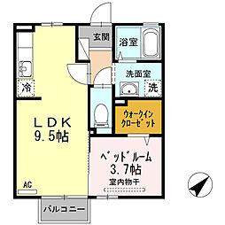 D-Roomシャルマン[1階]の間取り