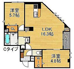 アプリーレ[3階]の間取り