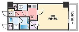 JR東海道・山陽本線 西宮駅 徒歩10分の賃貸マンション 6階1Kの間取り