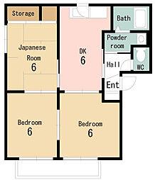 ストウハイツIIA[1階]の間取り