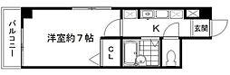 東京都江東区東陽1丁目の賃貸マンションの間取り