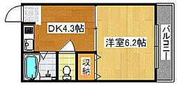 大阪府大阪市住之江区西加賀屋2丁目の賃貸マンションの間取り