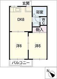 タウンハイツ[1階]の間取り