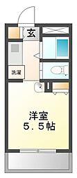 兵庫県西宮市上鳴尾町の賃貸マンションの間取り