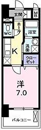 東京都青梅市河辺町10丁目の賃貸マンションの間取り