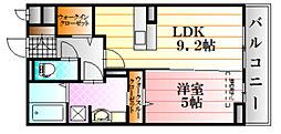 広島県広島市安佐南区緑井6丁目の賃貸アパートの間取り