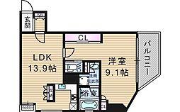 リーガル江戸堀[9階]の間取り