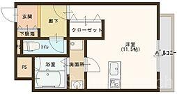 ルフレ堺[7階]の間取り