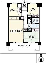サンコート三高[11階]の間取り