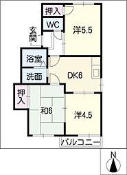 La Vie38 E棟[1階]の間取り
