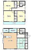 リフォーム後間取り図1階はリビングと和室、2階の和室は洋室へと間取り変更を行い洋室3部屋になります。お子様に自分だけのお部屋をプレゼントしませんか。