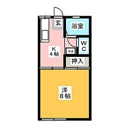 ハイム江戸橋B[1階]の間取り