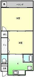 ファミリーハイツII[1階]の間取り