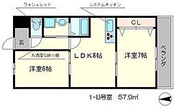 メゾン西寿[1階]の間取り