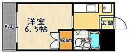 滋賀県大津市大将軍1丁目の賃貸マンションの間取り