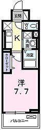 JR播但線 京口駅 徒歩13分の賃貸マンション 5階1Kの間取り