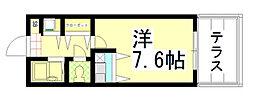 ハウス6[103号室]の間取り