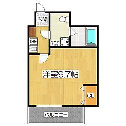 グランディオス京都東[4階]の間取り