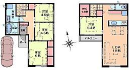 建物参考プラン例96.14平米1800万円(税込)こちらは一例ですのでご希望間取りで建築可能