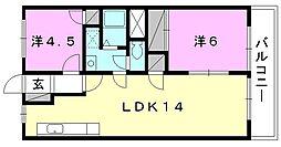 緑風館 中央[307 号室号室]の間取り