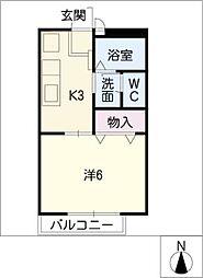 セレクトOne A棟[1階]の間取り