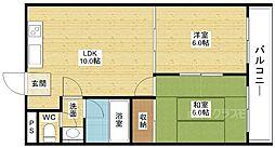 ハイム西口[3階]の間取り