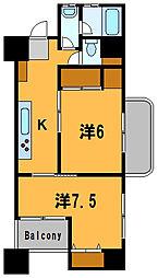 神奈川県横浜市神奈川区神奈川2丁目の賃貸マンションの間取り