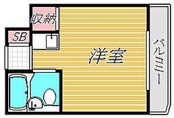 スカイコート世田谷上馬[3階]の間取り