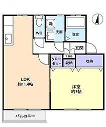 アネシスII[2階]の間取り