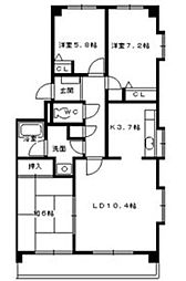 エスペランサII[1階]の間取り