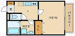 グローリーコート[2階]の間取り
