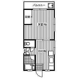 東京都中野区若宮2丁目の賃貸マンションの間取り