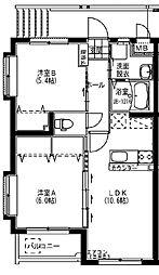 アンシャンテ・R[305号室]の間取り