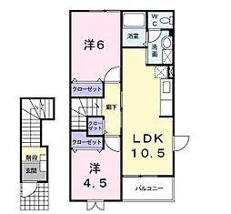 メゾン・ラフォーレB[2階]の間取り