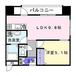 光信第3ビル[9階]の間取り