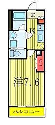 ANNEX椎名町 4階1Kの間取り