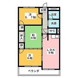 西丸之内パークマンション[6階]の間取り
