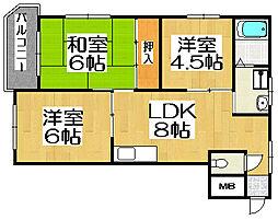 SKハイツ戸田[4階]の間取り