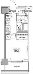 JR京葉線 越中島駅 徒歩12分の賃貸マンション 2階1Kの間取り
