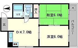 第2渡部ビル[2階]の間取り