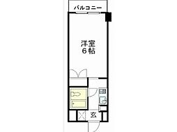 白樺マンション[1階]の間取り