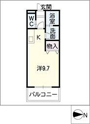 松本台イースト[2階]の間取り
