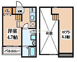 シュエット鳳[2階]の間取り