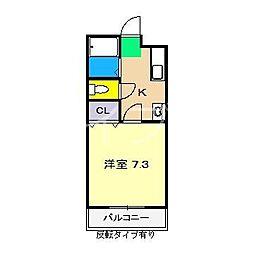 サンバリー[2階]の間取り