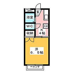 フォレステージ植田[2階]の間取り