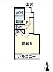 ヒルクレスタII[1階]の間取り